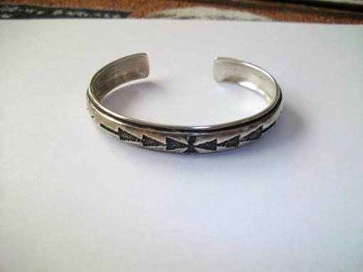 Vintage Sterling Silver Cuff Bracelet - $20
