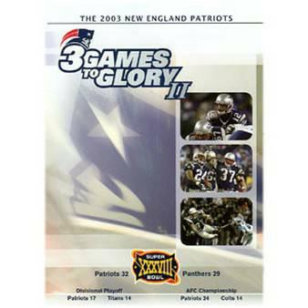 New England Patriots Championship 4 DVDs - $14