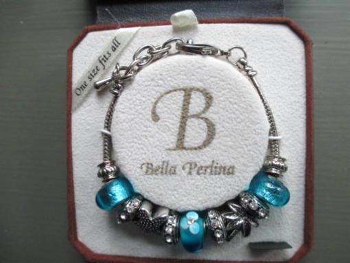 Bella Perlina Charm Bracelet - Palm Tree, Star, Blue Charms - $45