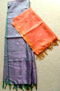 Two new silk scarves scarf paisley design - $5
