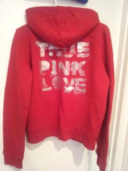 Red Victoria Secret Hoodie Size Large - $5