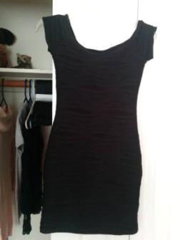 women's small black dress - $15