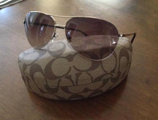 Coach aviator sunglasses - $60