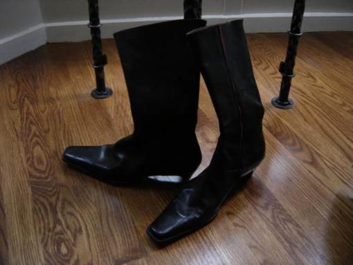 Louis Boston NEW Designer black leather boots - $298