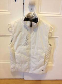 Womens' Solomon vest - white - size small - $40