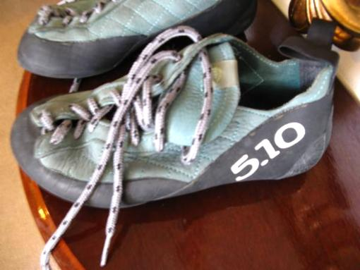 female rock climbing shoes by 5.10 size 8 - $50