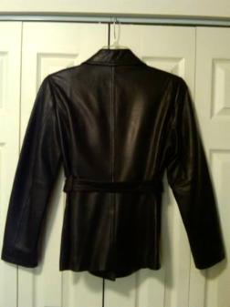 New Ladies Black Leather Jacket - $100
