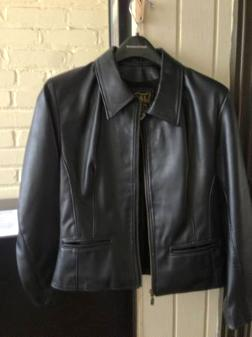 Women's faux leather jacket (small), barely worn, great condition - $30
