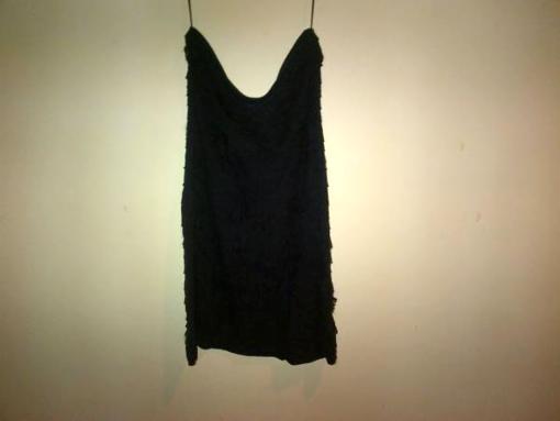Express Black Frilly Strapless Dress - Size Medium - $30
