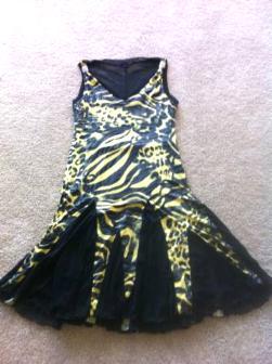 Black and Gold Lepard dress - $180