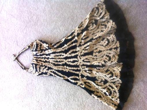 Black and Gold Dress by Lara - $180