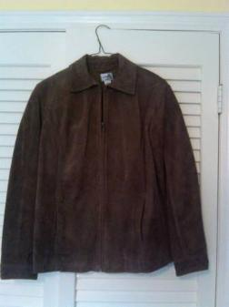 Chico's Espresso Brown Leather Jacket -- Women's Chico's Size 1 - $30