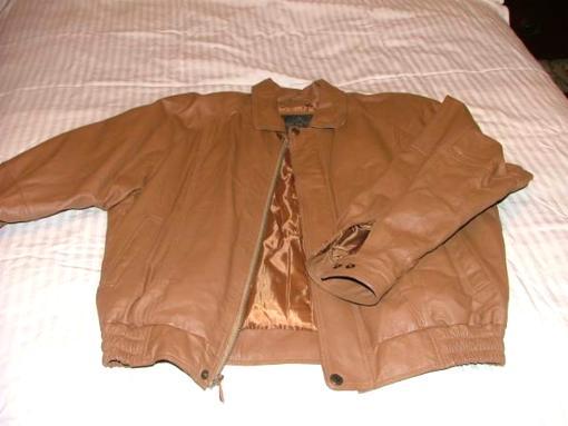 Brand new genuine leather mens jacket, size L -XL - $80