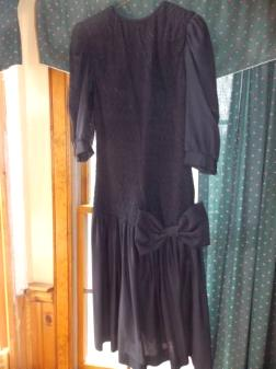 Black cocktail dress, size 12 - $25