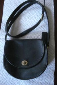 Classic black Coach bag - $40