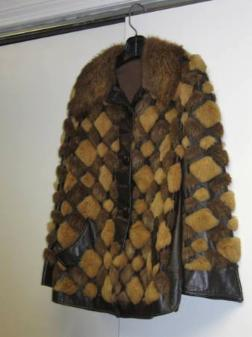 Womans Nutria Fur & Leather Combination Jacket - $100