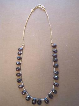 Rhodolite Garnet necklace - $95