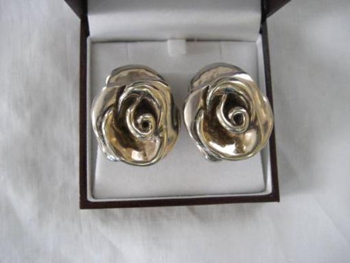 Fabulous Sterling Handmade Floral Earrings - $60