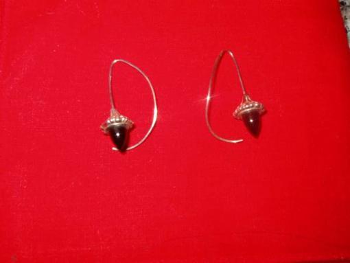 Sterling silver & onyx earrings - $25