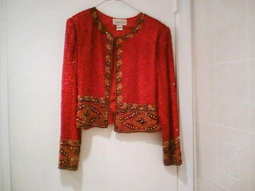 Women's Red Evening Jacket - $20