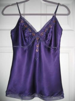 Arden B Purple Silk Top