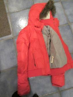 Hot pink American Eagle jacket with hood - $20