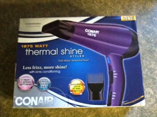 Conair 1875 Watt Thermal Shine Hair Dryer - $20
