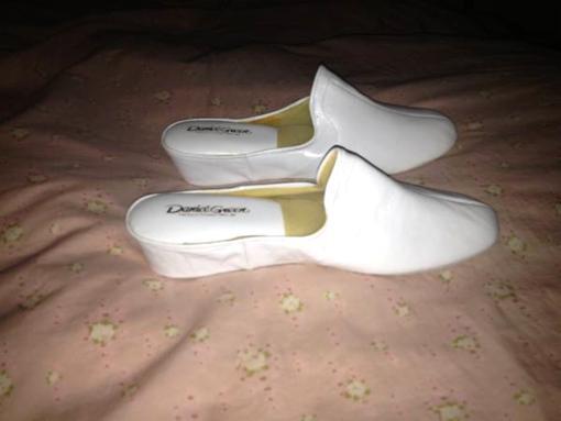 Women's Daniel Green Leather Slippers - $40