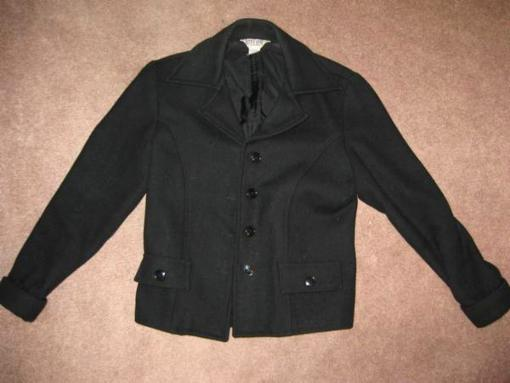 Women's Black Wool Peacoat - $20