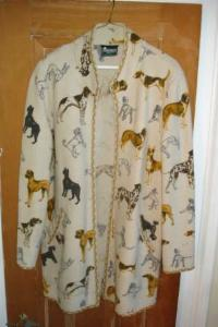 Gorgeous Geiger boiled wool coat- dog pattern - $150