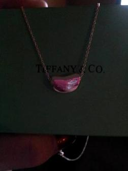 Authentic Tiffant&Co. bean shaped pendant - $45
