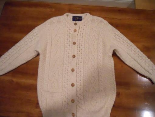 Irish Knit cardigan sweater - $45