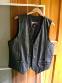Men's Leather Vest - $25