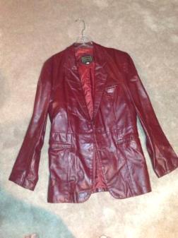 Men's leather high quality blazer. 38 reg - $50