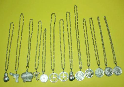 13 Silver Plated Pendants & Chains - $60