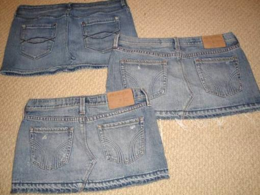Cute Jean Skirts - $12