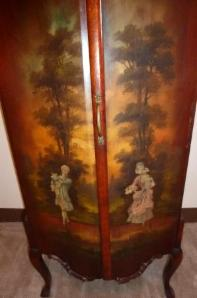 Hand Painted Antique French Sheet Music Cabinet - $425